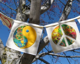 PDF Sewing Pattern Peace Love and Harmony Banner or Quilt Blocks Indoor Outdoor Decor