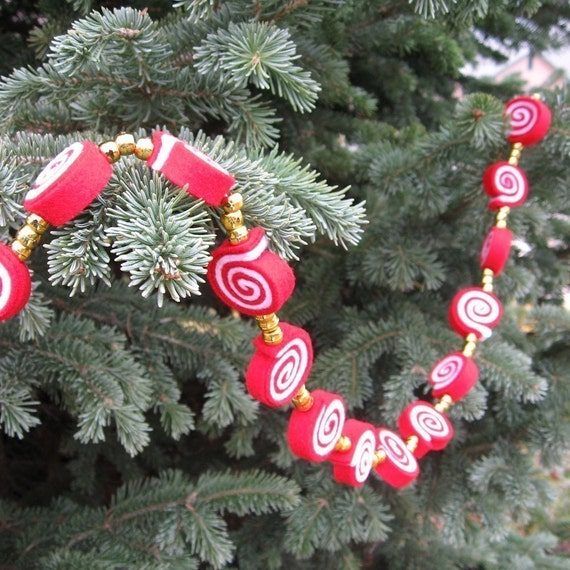 Craft Pattern PDF Felt Peppermint Garland