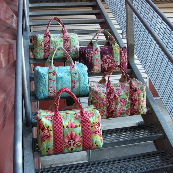 Bridesmaid Set of 5 Custom Travel Duffel Bags
