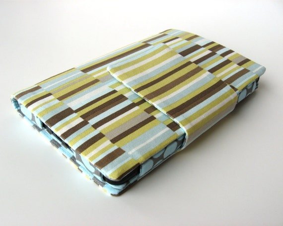 Kindle Fire Cozy Stand in olive stripes Ready to Ship