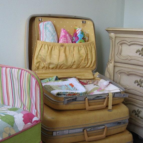 Ready to Ship Yellow Samsonite Vintage Luggage