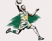 "Basketball NBA Player Shawn Kemp ""Reserved for Terra"""