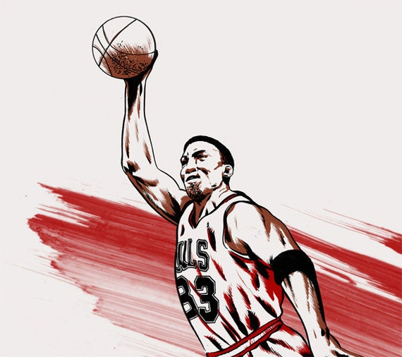 NBA Basketball Player Scottie Pippen Chicago Bulls