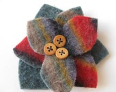Pendleton Wool Flower Pin