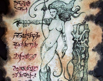 SUCCUBUS Demon Witch of the Wasteland Necronomicon Fragment