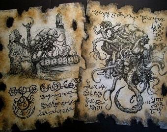 Cthulhu larp SHOGGOTH Necronomicon occult witchcraft horror steampunk magic