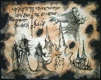The Blind Dead Necronomicon Fragment occult horror