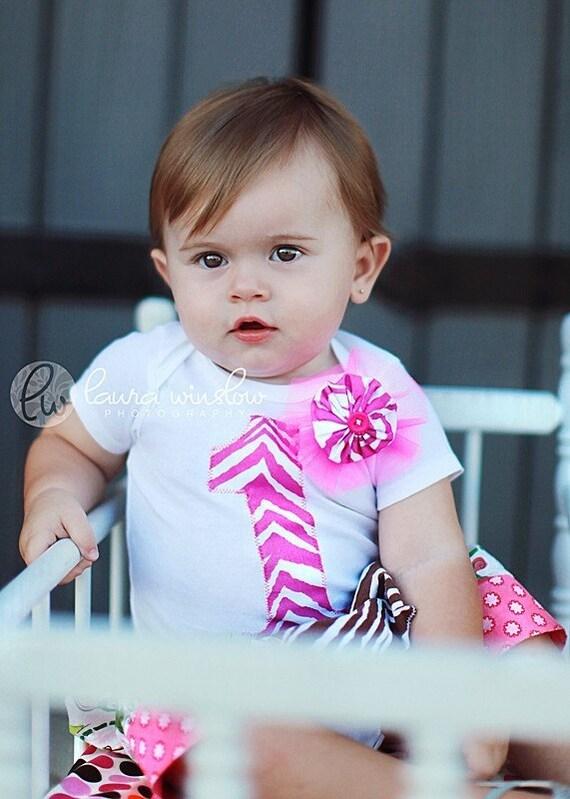 1st Birthday Pink Zebra Onesie or Tee