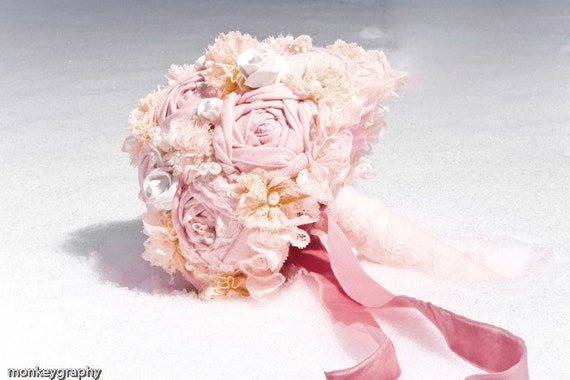 FINAL SALE WAS 175 USD - PSYCHE Vintage Inspired Bridal Bouquet - CLEARANCE SALE