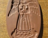 Hartstone Stoneware Cookie Mold- Angel