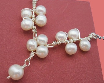 Freshwater Pearls, Sterling Silver Necklace