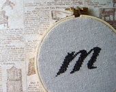 Lowercase 'm' Cross Stitch PDF Pattern