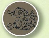 Elegant Decorative Scroll. Cross Stitch PDF Pattern