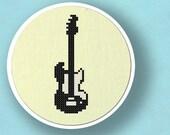 Electric Guitar. Musical Instrument Cross Stitch PDF Pattern