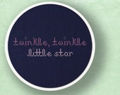 Twinkle, Twinkle Little Star. Text Cross Stitch Pattern PDF File