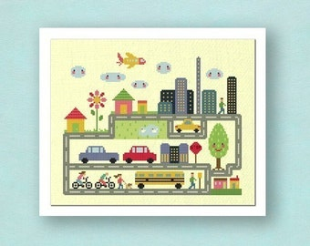 Dream City. Large Cross Stitch Pattern PDF File