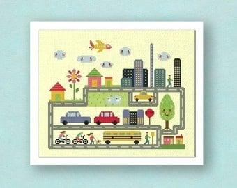 Dream City. Large Cross Stitch Pattern PDF File