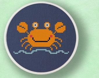 Cute Crabby Cross Stitch PDF Pattern