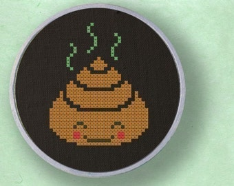 Miss Dung. Poop Cross Stitch PDF Pattern Instant Download