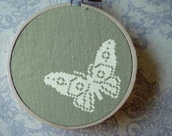 Flutter. Butterfly. Cross Stitch Pattern. PDF Instant Download