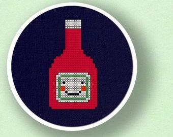 Ketchup. Cross Stitch Pattern PDF File