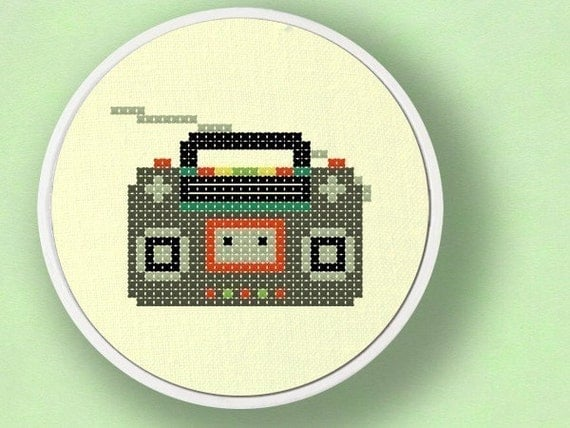 Radio. Cross Stitch Pattern PDF File