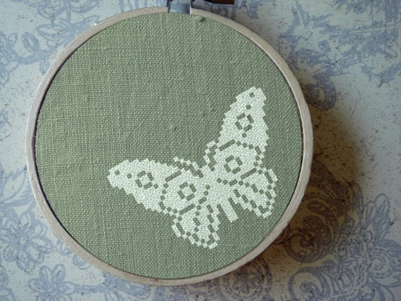 Flutter. Butterfly. Cross Stitch Pattern. PDF File