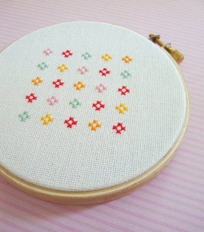 Simple cross stitch flowers imgkid the image