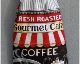 Towel Holder with Towel Coffee Theme