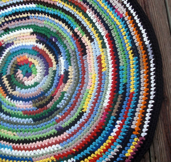 Rag Rug Multi Color Round 41 Inches