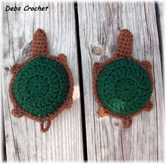 Crochet Kitchen Scrubbies : Crochet Turtle Kitchen Scrubbies (Set of 2) FREE SHIPPING (U.S.)