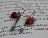 twilight forks and apples earrings