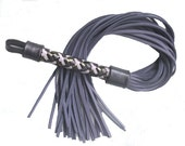 Purple Leather Whip Flogger,  BDSM fetish bondage