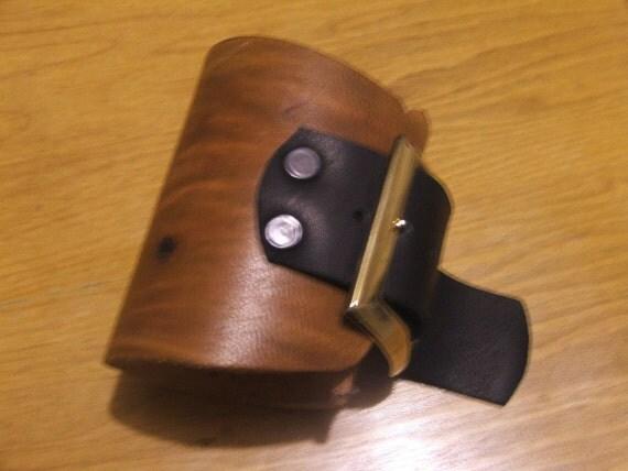 Mid Century Modern Leather Cuff