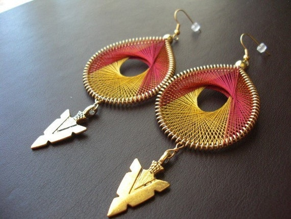 FSU Florida State Seminoles Game Day Thread Earrings. String Earrings. Garnet and Gold Thread String Earrings. Custom FSU Florida State