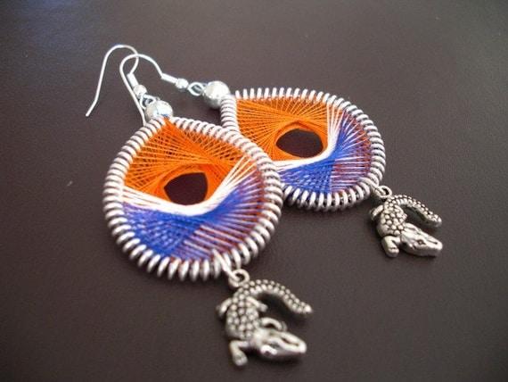 UF Florida Gators Game Day dangle earrings