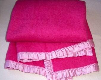Vintage Baby Blanket Esmond BEACON Slumberest pink
