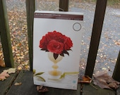 Martha Stewart Crafts - Red Crepe Paper Roses kit - Brand New - Great for Valentines Day