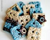 Shabby Boy (handmade buttons set of 12)