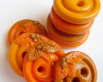 Essence of Fall (handmade buttons set of 8)