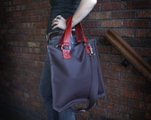 Zola Jones Z Bag - Plum with Cherry Red Accent