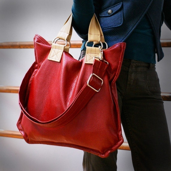 Zola Jones Z Bag - Red with Tan Accent