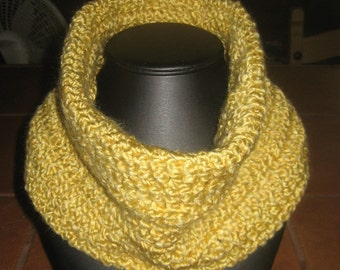 Thick And Soft Autumn Gold Crochet Neck/Face Sweater