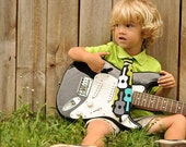 Guitars Neck Tie for Boys. FREE SHIP