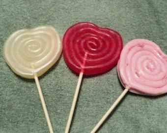 Valentine Soap - Heart Lollipop Soap Set