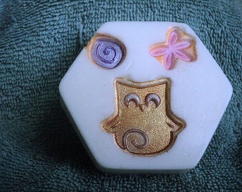 White Tea & Ginger Owl Soap -Birthday gift, party favor, Mothers Day, Tween, Owls, teacher gift