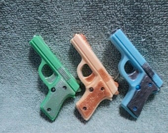 Mini Gun Soap Set (2)- Mens soap, Party favors, Bachlor Party, Birthday, Uncle, Brothers, Dads, Police, Detective