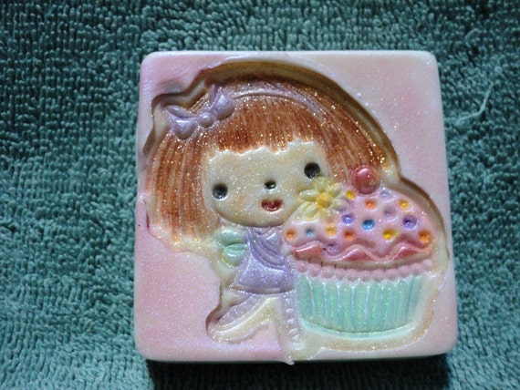 Sweet Cupcake Fairy Soap - Raspberry Cream Cupcake Scent - Great gift idea for teachers, tween or your favorite little person!!!