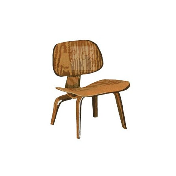 For Charles and Ray Eames - Molded Plywood Chair Square Print