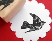 SALE - Flying Bird Rubber Stamp - Handmade rubber stamp by BlossomStamps
